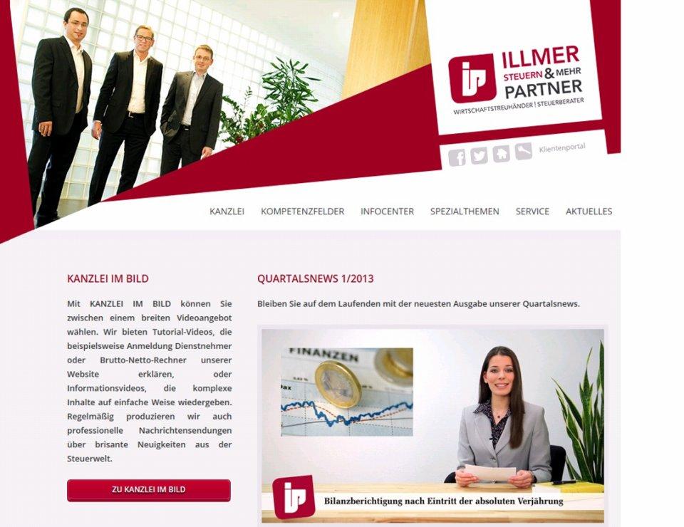 Screenshot Homepage Videos